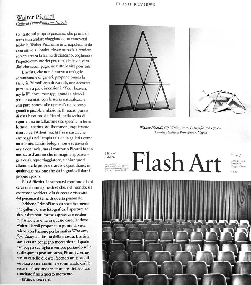 FlashArt Review – Walter Picardi | Galleria primopiano